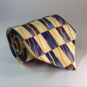 J Garcia yellow tree silk tie 58/3.75""